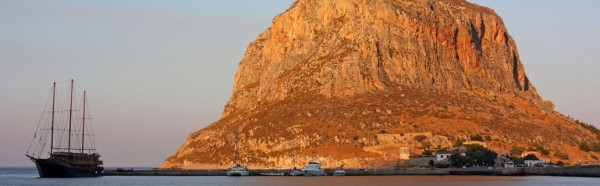 Panoramic shot of the Galileo in Monemvasia