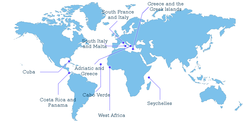Variety Cruises Mega Yachts Cruise Map