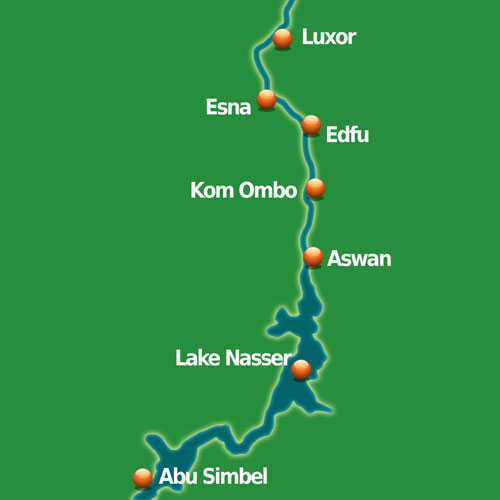 Nile Cruise Map