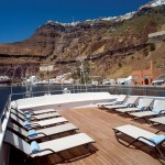 Scenic picture from the Deck of Harmony G in Santorini