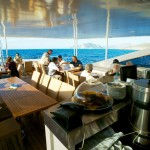 Outside Dinning Area onboard Harmony G