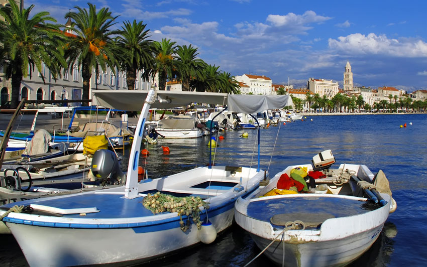 Croatia Split town Fishing boats