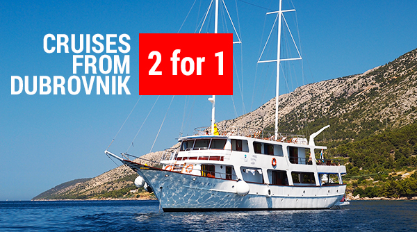 2 for 1 discount on A+ category prices on route KL5 starting and ending in Dubrovnik