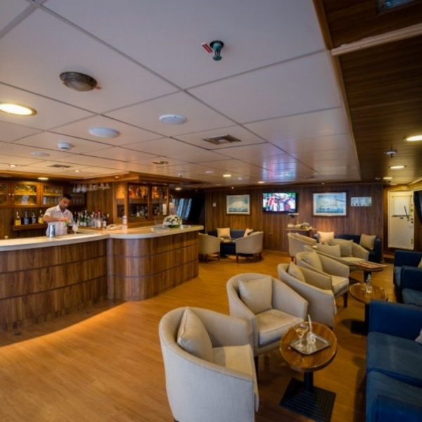 M S Panorama Upper Deck Bar Lounge area: