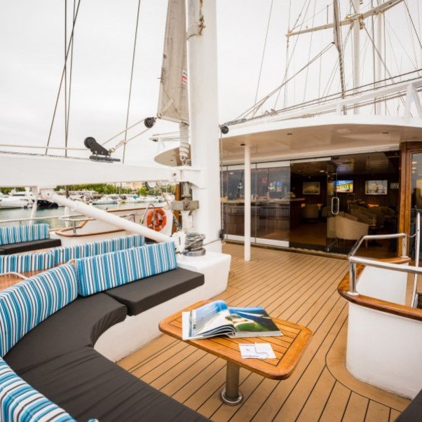 M S Panorama Upper Deck - Outdoor Lounge Area