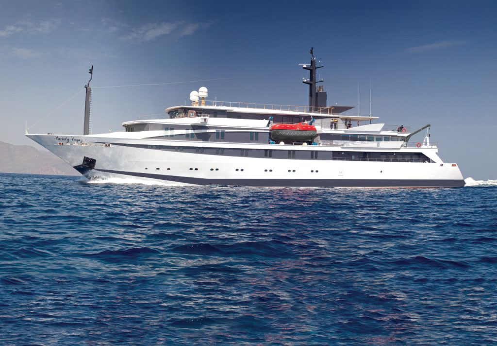 The new build 68m/223ft state of the art Mega Yacht Variety Voyager