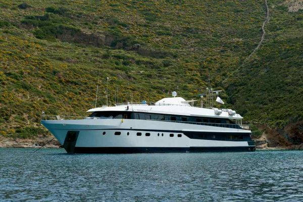 """The Harmony """"G"""" is a modern vessel with a sleek high-tech look"""
