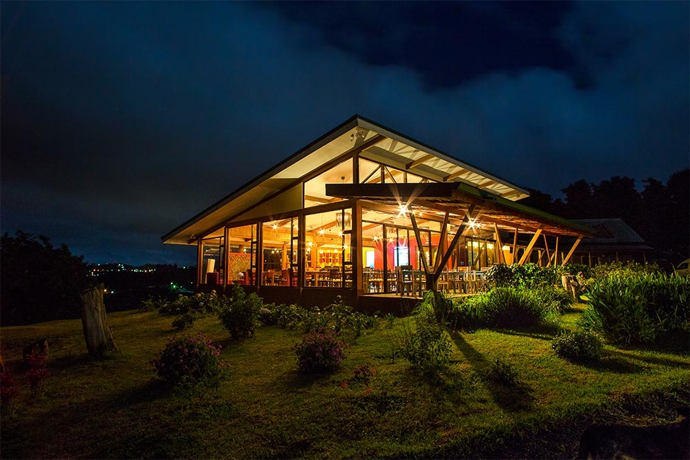 Chayote Lodge at Night