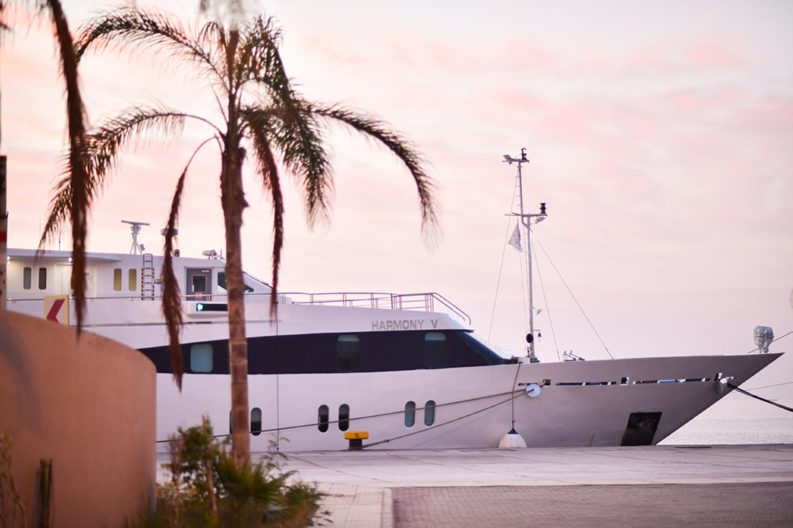 The Harmony V is a modern elegant yacht